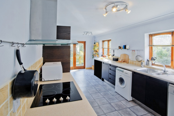 French Doors Provide Lighting for Kitchen Remodel