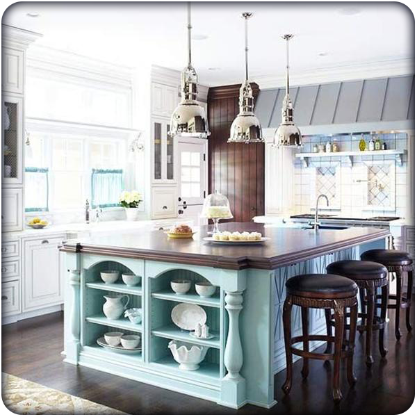 Kitchen Design: Trends & Resolutions for 2016: Blue Color Pop