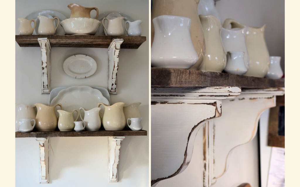 rustic-painted-shelves