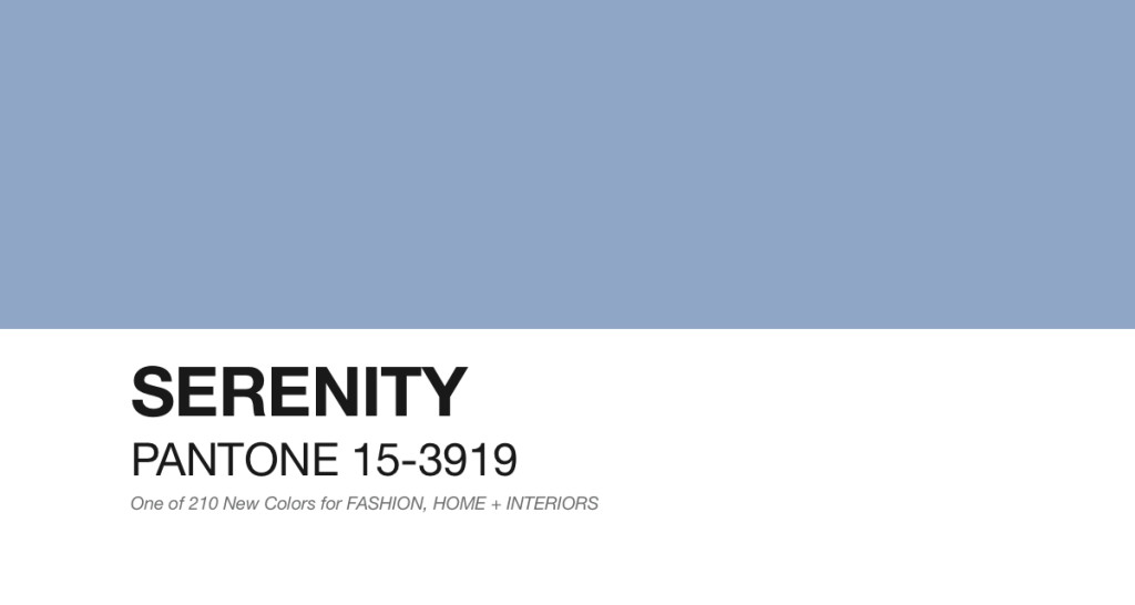 Pantone: Serenity