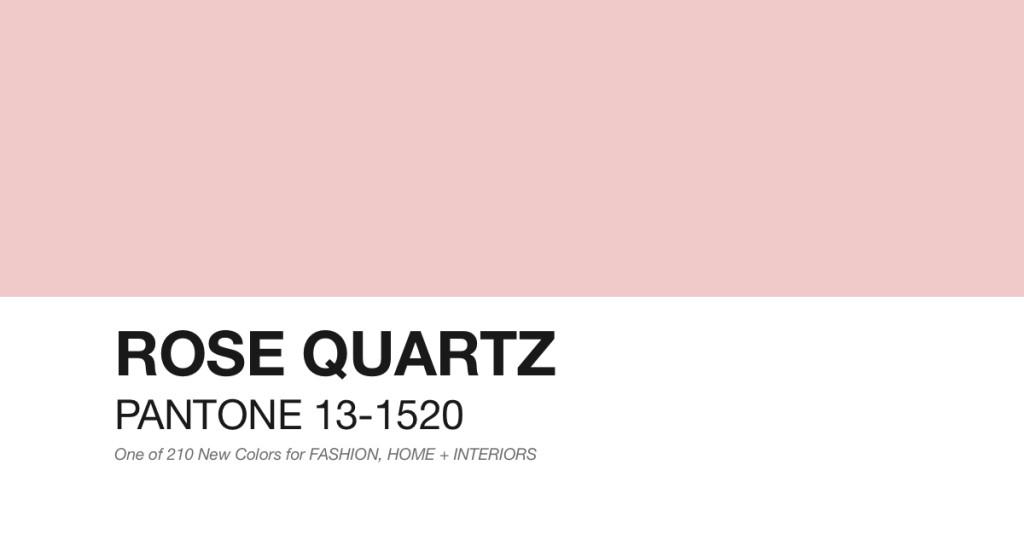 Pantone: Rose Quartz