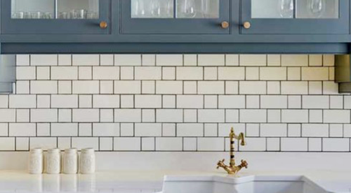 Subway Tile  Turning Basic Backsplash Bold