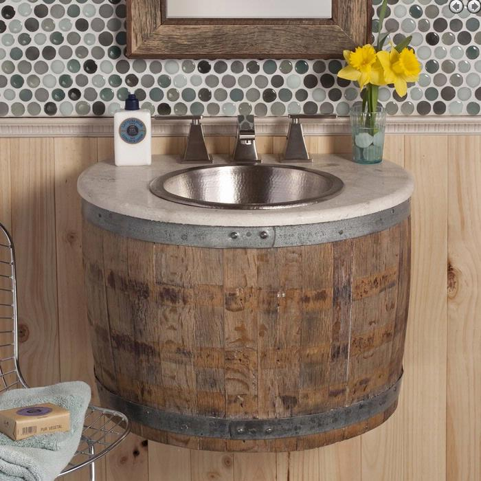 Bourbon Barrel Bathroom Vanity Louisville Cincinnati Newport Kentucky