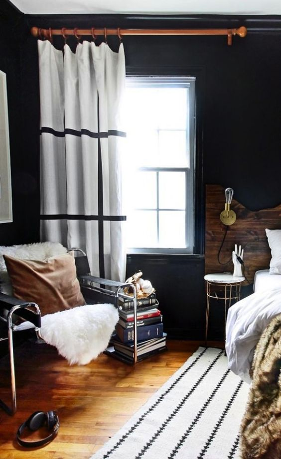 Curtains in Bachelor Pad