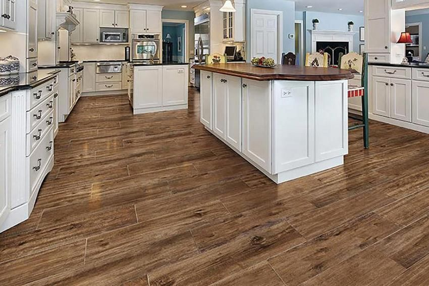 Wood Look Tile Kitchen Flooring