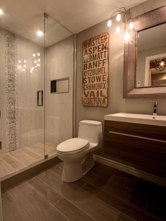 Wood Look Tile Bathroom Flooring