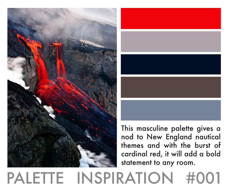 Color Palette Inspiration Red Navy Grey