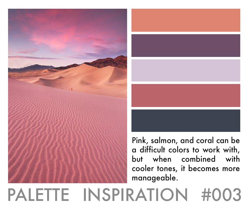 Color Palette Inspiration Pink Rose Lavender