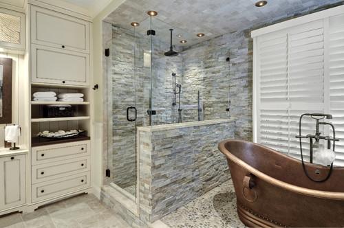 Ledge Stone Shower
