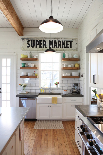 Joanna Gains Kitchen: Rustic Industrial Style