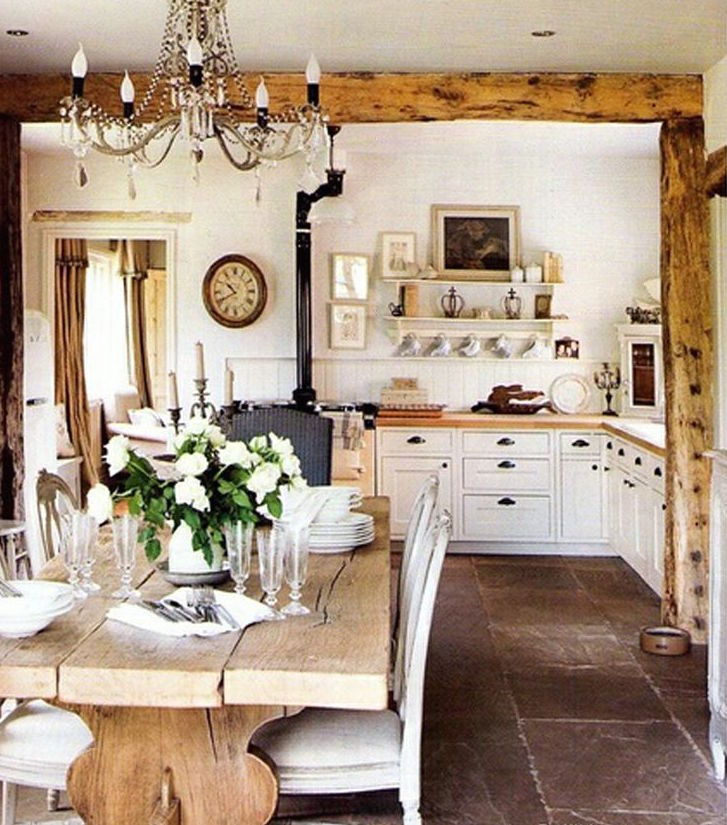 White-French Country Kitchen