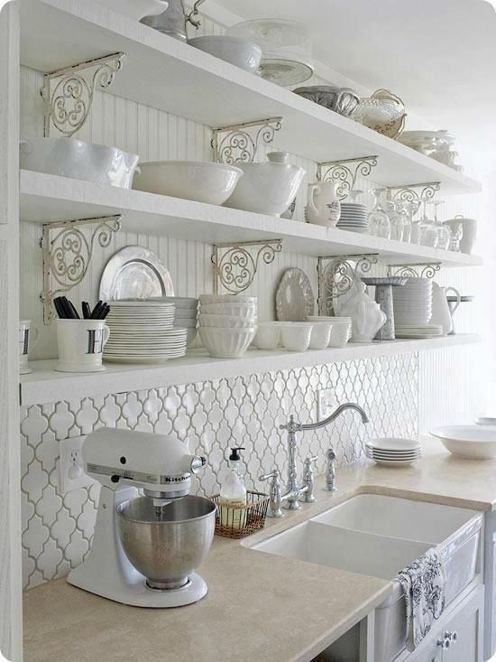 French Country Kitchen Arabesque Tile