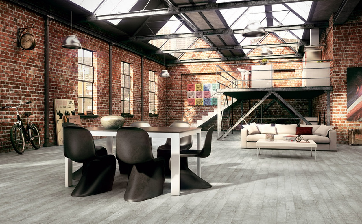 industrial design, industrial style living room