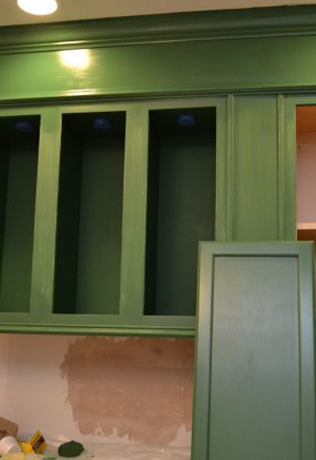 Unfinished Cabinets Green