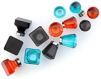 Emtek Hardware Colored Crystal Cabinet Knobs