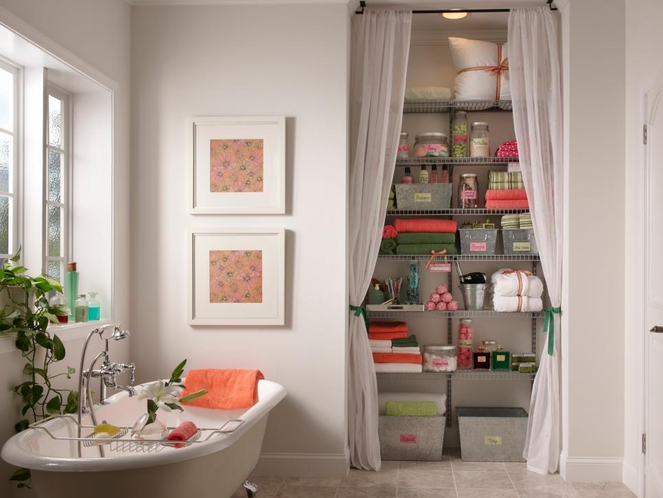 Family Friendly Bathroom Remodel Storage
