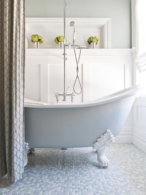 clawfoot tub shower combo