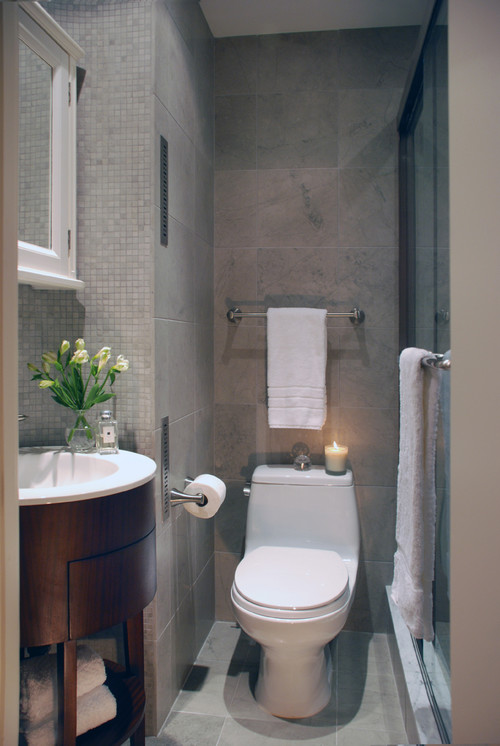Small Bathroom: Monochromatic Color Scheme
