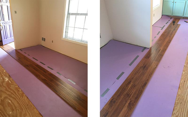 DIY Flooring Installation Step 4