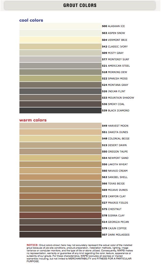 Tile Grout Colors: Our Grout Color Selection