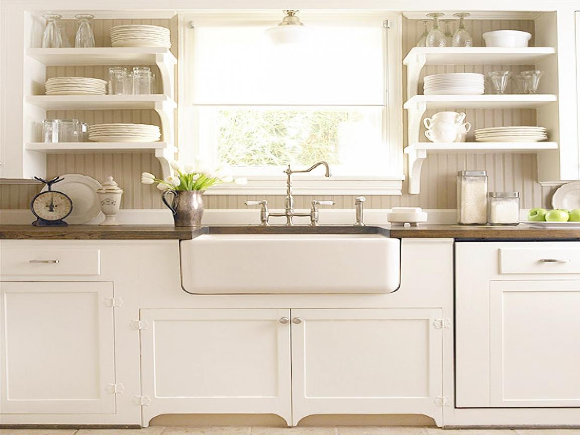 White kitchen farmhouse budget remodel