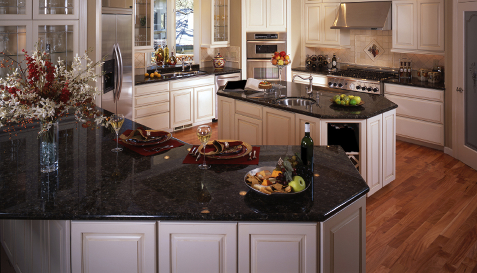 polished-black-granite-countertop refresh your home