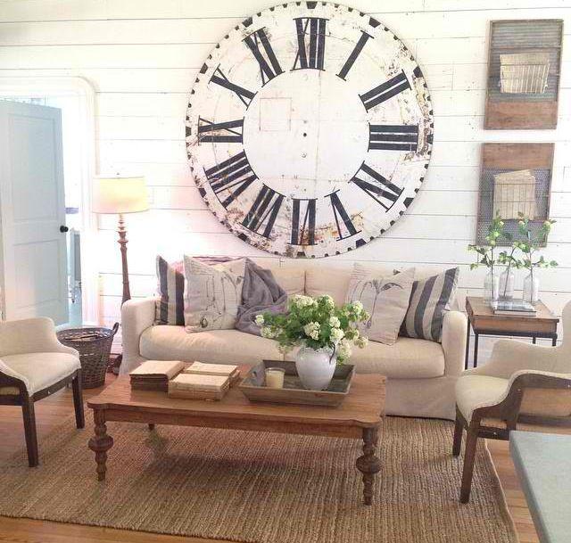 fixer upper style oversized wall clock