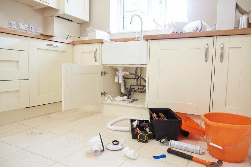 diy kitchen remodel plumbing