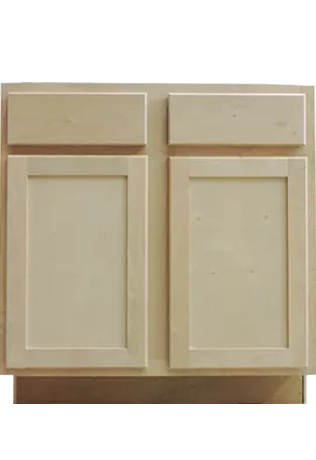 Unfinished alder Shaker Cabinets Louisville