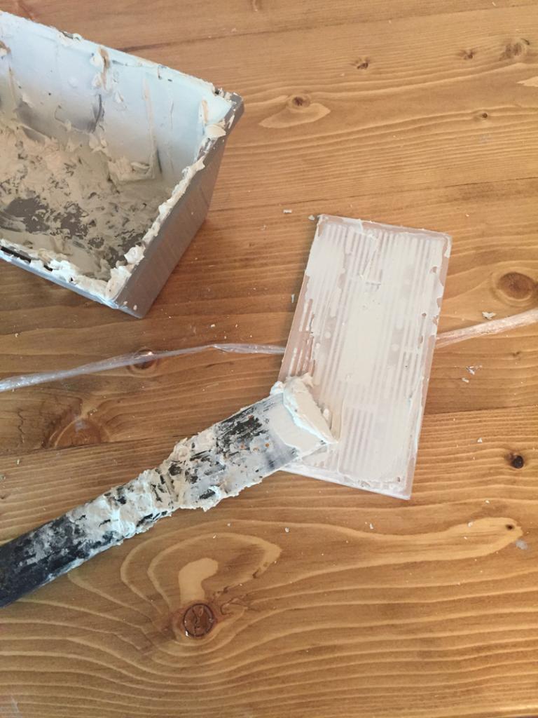 butter backsplash tile