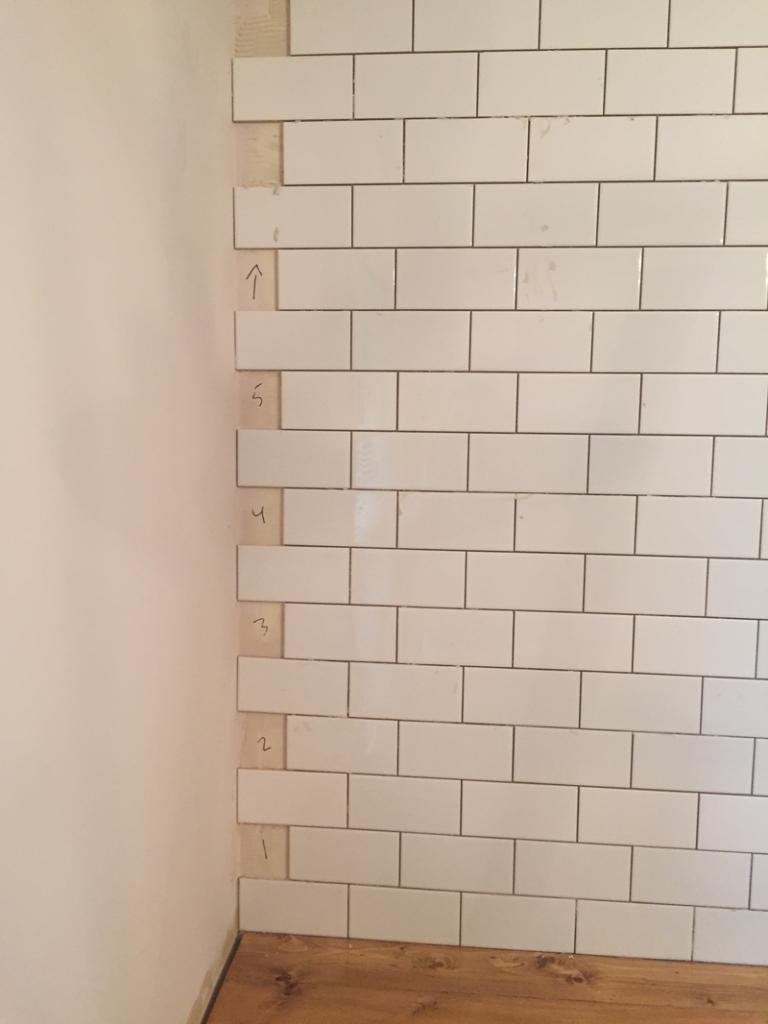numbering-tile backsplash