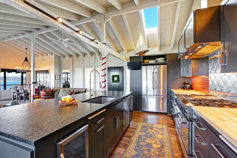 black-cabinets 2017 kitchen design trends