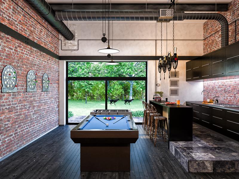 brick-tile 2017 kitchen design trends