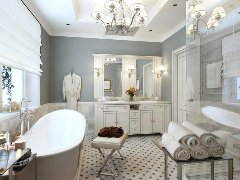 trim old bathroom remodel