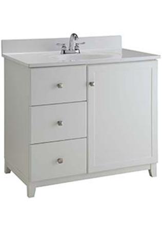 Swood White Furniture Style Bathroom Vanity
