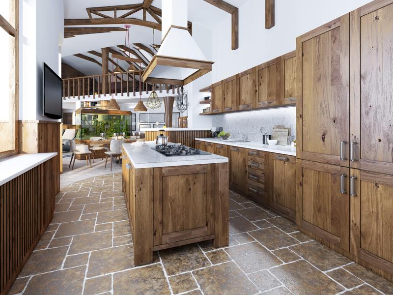 Rustic Kitchen Design Flooring Newport Louisville Cincinnati