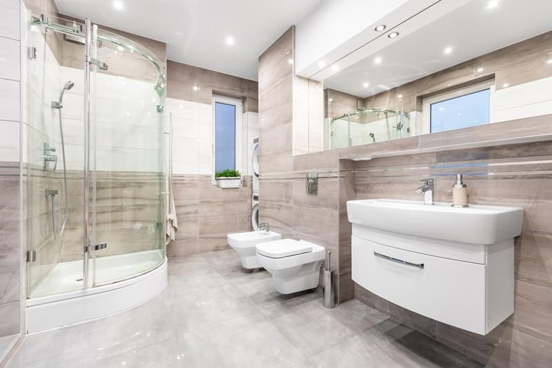 Spacious-Bathroom remodel for elderly