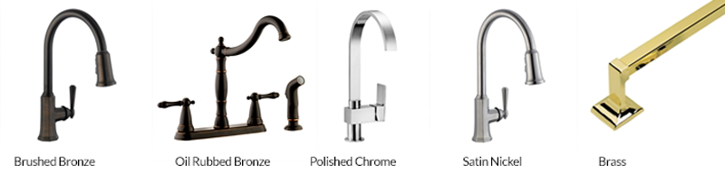 kitchen remodel faucet finishes