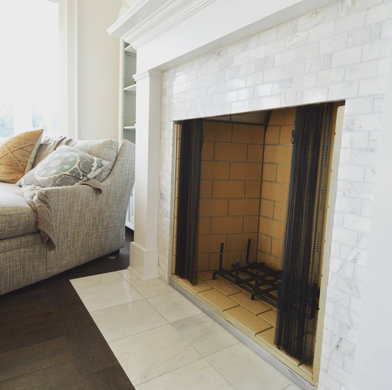 greecian-marble-subway-tile-fireplace
