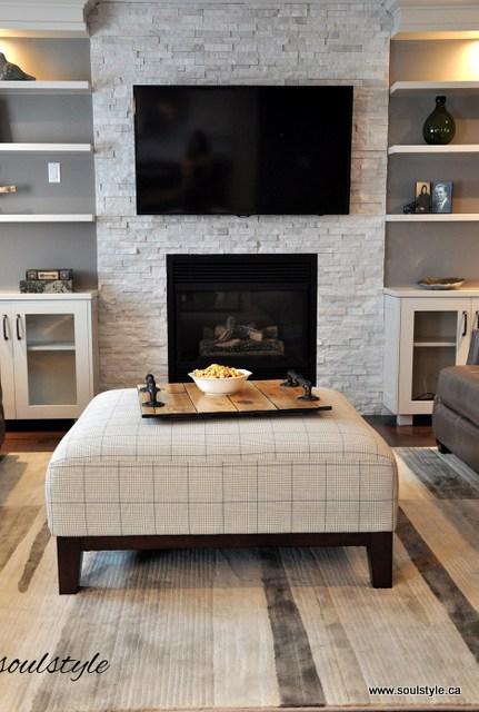 ledger panel fireplace remodel