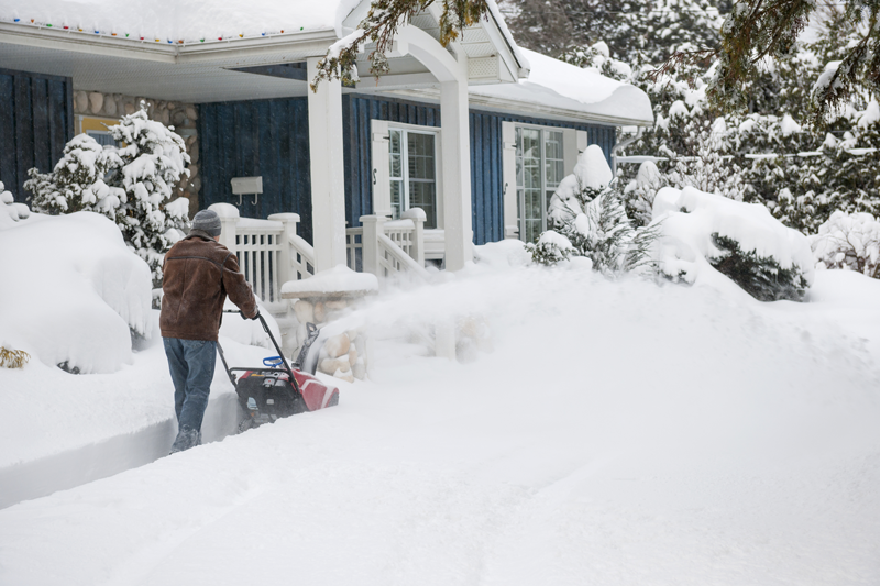 snow path clearing winter home maintenance
