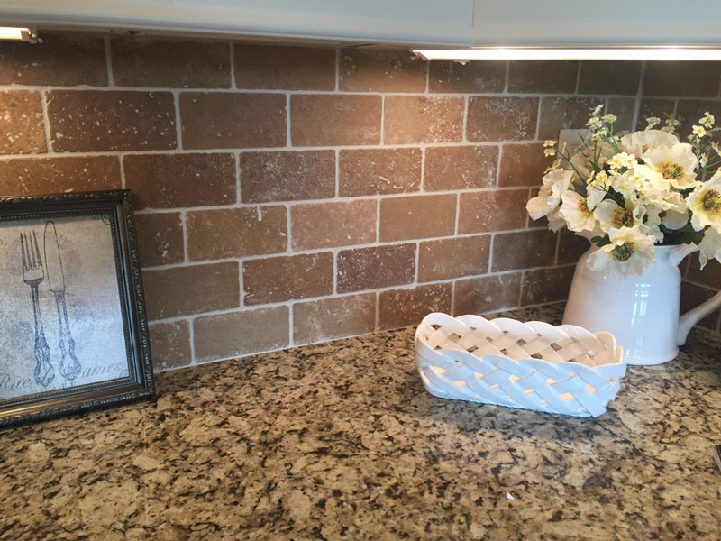 brick-subway-tile granite countertops White-quartz-subway-tile kitchen homearama 2017