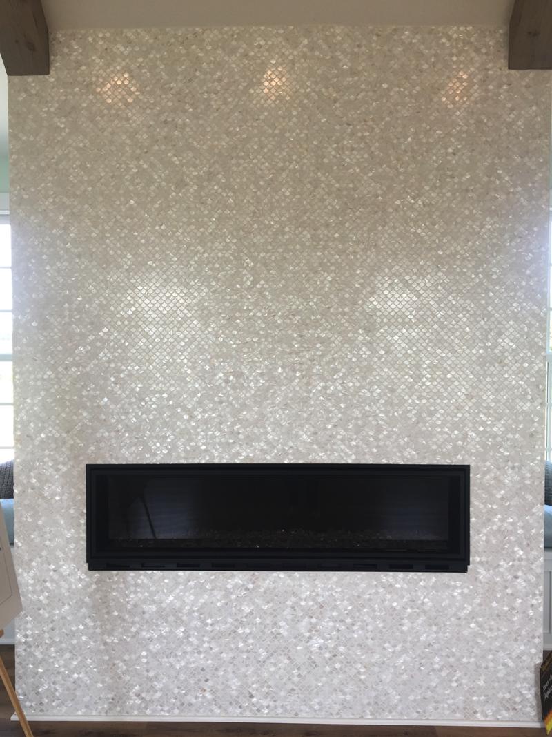 tile fireplace home design trends