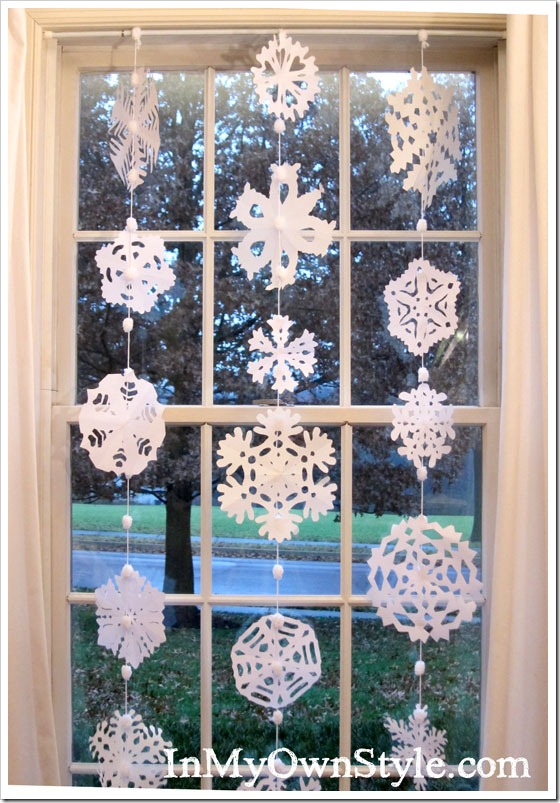 DIY Christmas Decorations - Window Snowflakes