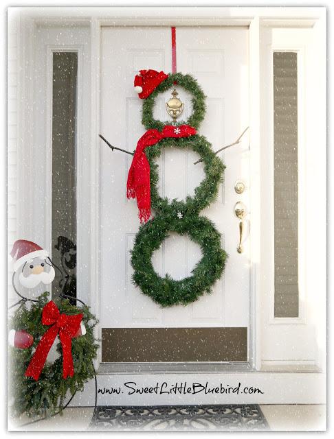 snowman wreath DIY Christmas Decorations