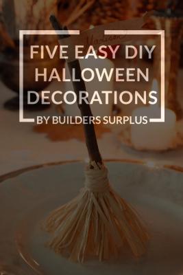 Five Easy DIY Halloween Decorations