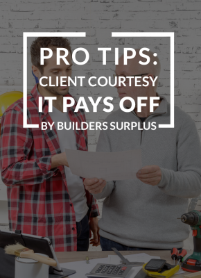 Pro Tips: Client Courtesy It Pays Off