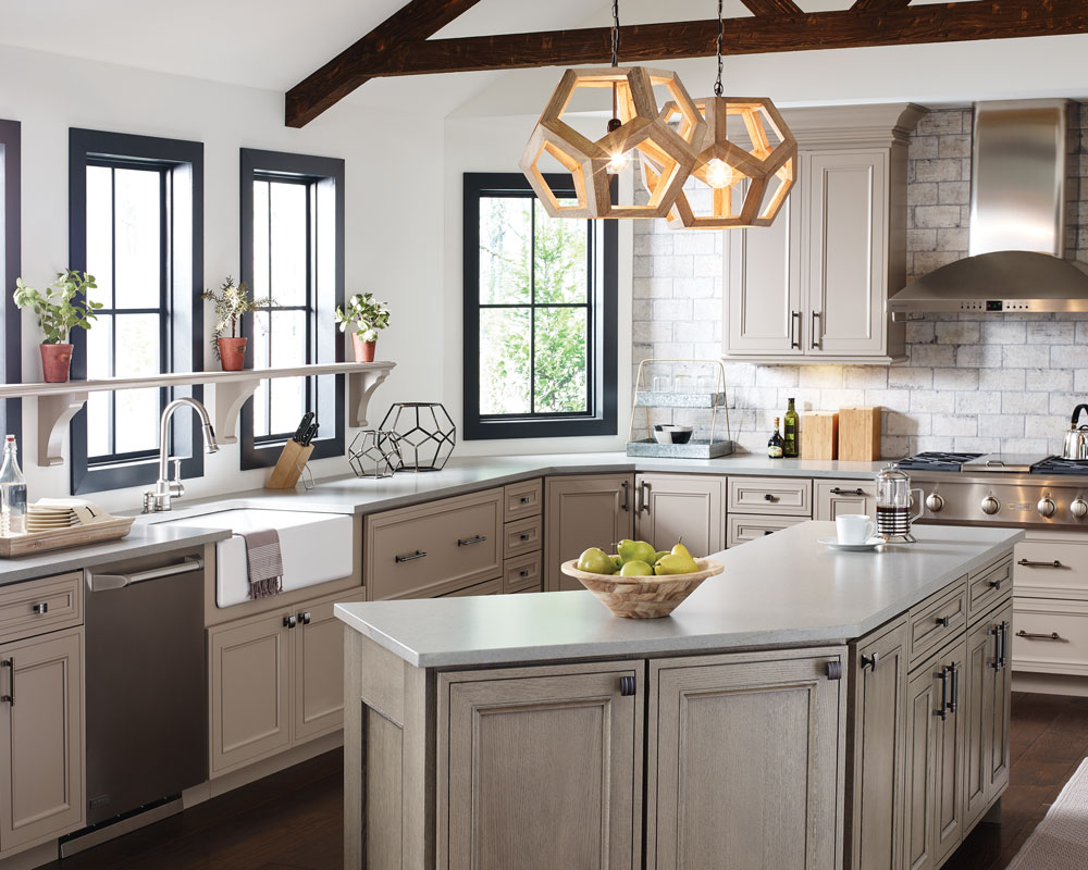 Taupe cabinets, 2018 remodeling trends