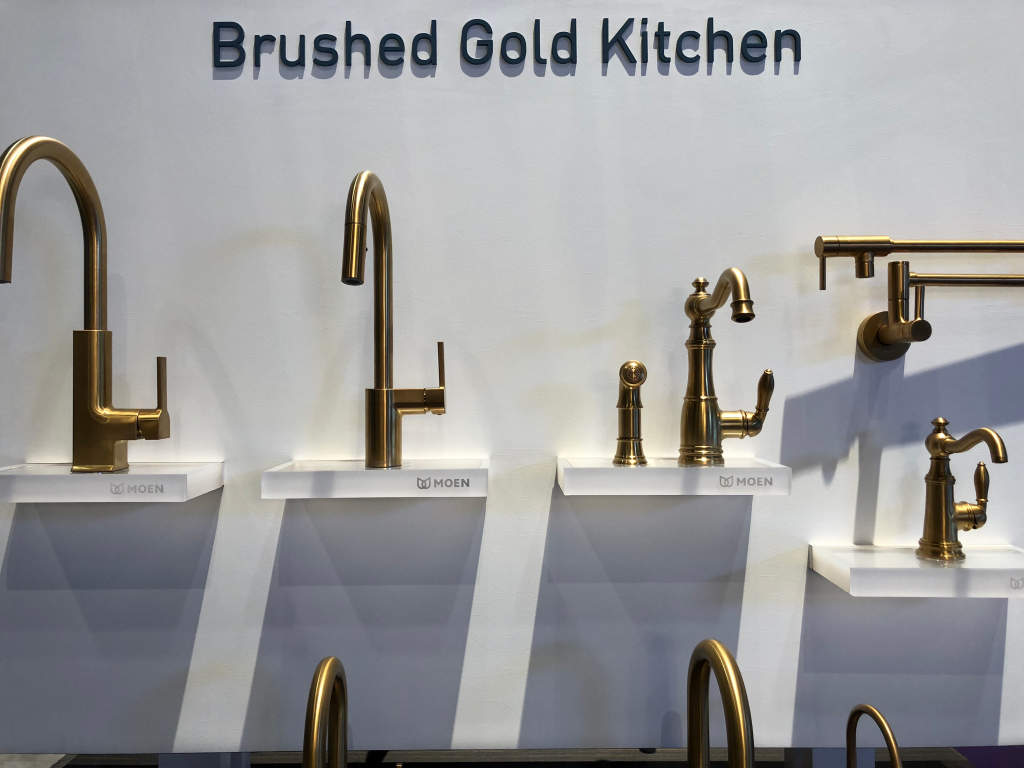 Brushed Gold Fixtures - Top home trends