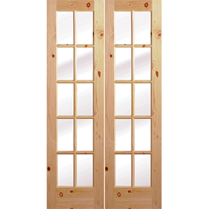 48u2033 Knotted Pine 10 Lite French Interior Prehung Doors  sc 1 st  Builders Surplus & 48